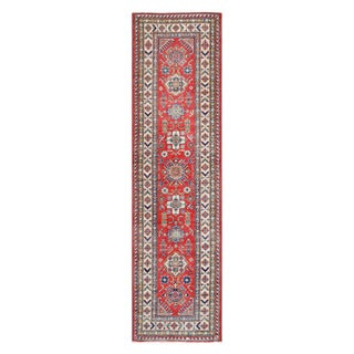 Herat Oriental Afghan Hand-knotted Tribal Vegetable Dye Kazak Wool Runner (2'8 x 9'9)