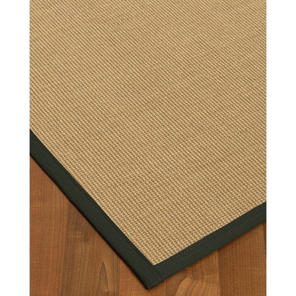 Handcrafted Hibiscus Sisal Fossil Rug (5' x 8')