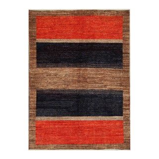 Herat Oriental Afghan Hand-knotted Tribal Vegetable Dye Gabbeh Wool Rug (4'8 x 6'6)