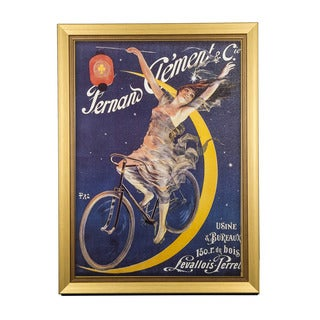 Framed Art - Moon Rider, Clement Cycles