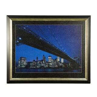 Framed Art - Manhattan Skyline and Brooklyn Bridge