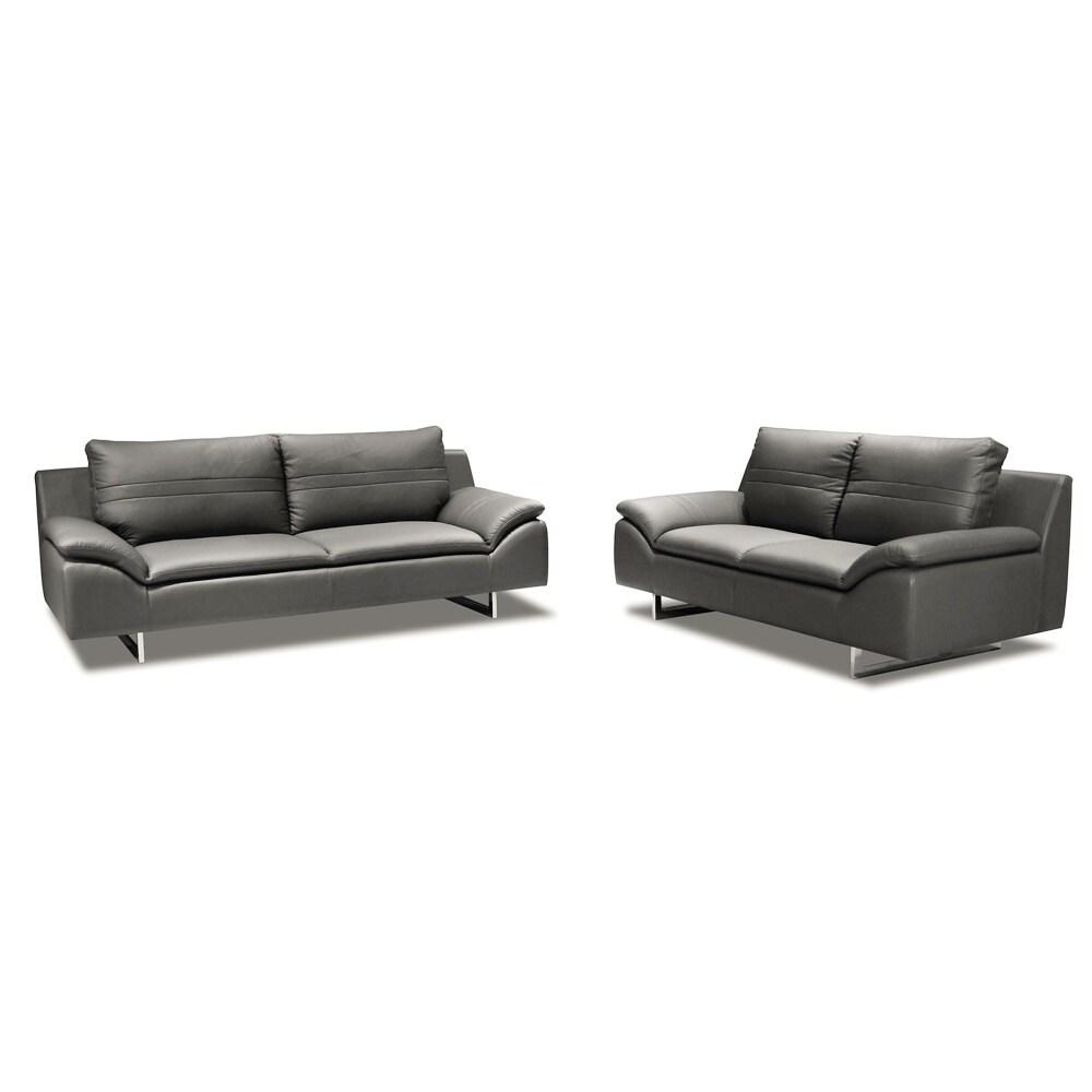 Tremendous Obbe Sofa And Love Seat Leather Set Creativecarmelina Interior Chair Design Creativecarmelinacom