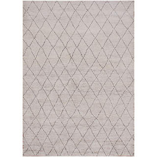 Hand-knotted Moroccan Beni Ourain Dara Wool Grey Rug (6' x9')