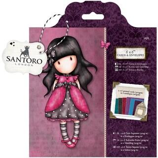 Gorjuss Cards & Envelopes 6inX6in 12/Pkg Santoro