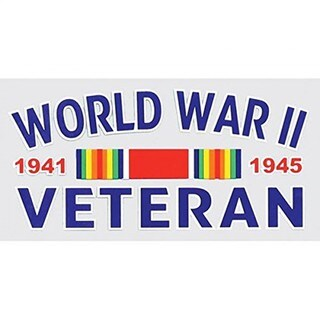 World War II Veteran Car Decal
