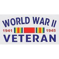 World War II Veteran Car Decal