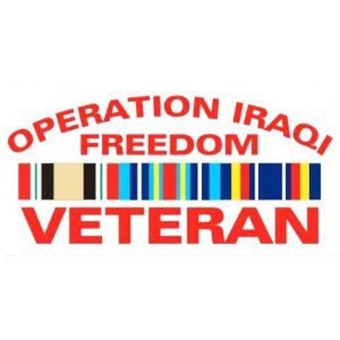 Operation Iraqi Freedom Veteran Car Decal