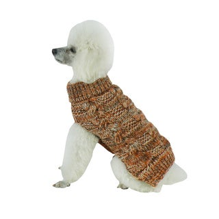 Royal Bark Heavy Cable-knitted Designer Fashion Dog Sweater