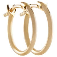 Pori 10k Yellow Gold 2x10mm Circle Hoop Earrings