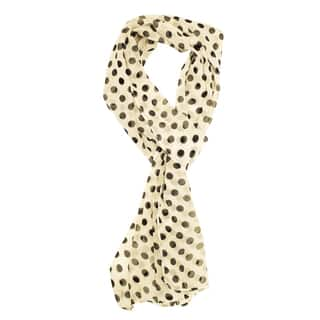 Le Nom Women's Polka Dot Scarf|https://ak1.ostkcdn.com/images/products/10303953/P17416853.jpg?impolicy=medium