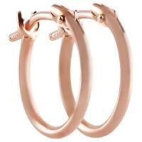 Pori 10k Rose Gold 2x10mm Circle Hoop Earrings