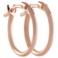 Pori 18k Rose Gold 2x10mm Circle Hoop Earrings