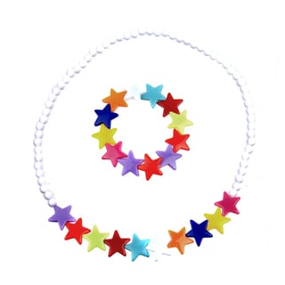 Little Girl Colorful Star Jewelry Set