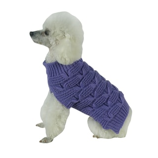 Cable Knitted Fashion Turtleneck Dog Sweater