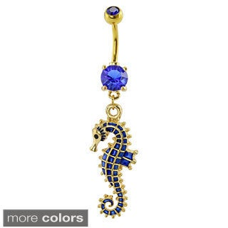 Supreme Jewelry Goldtone Seahorse Belly Ring