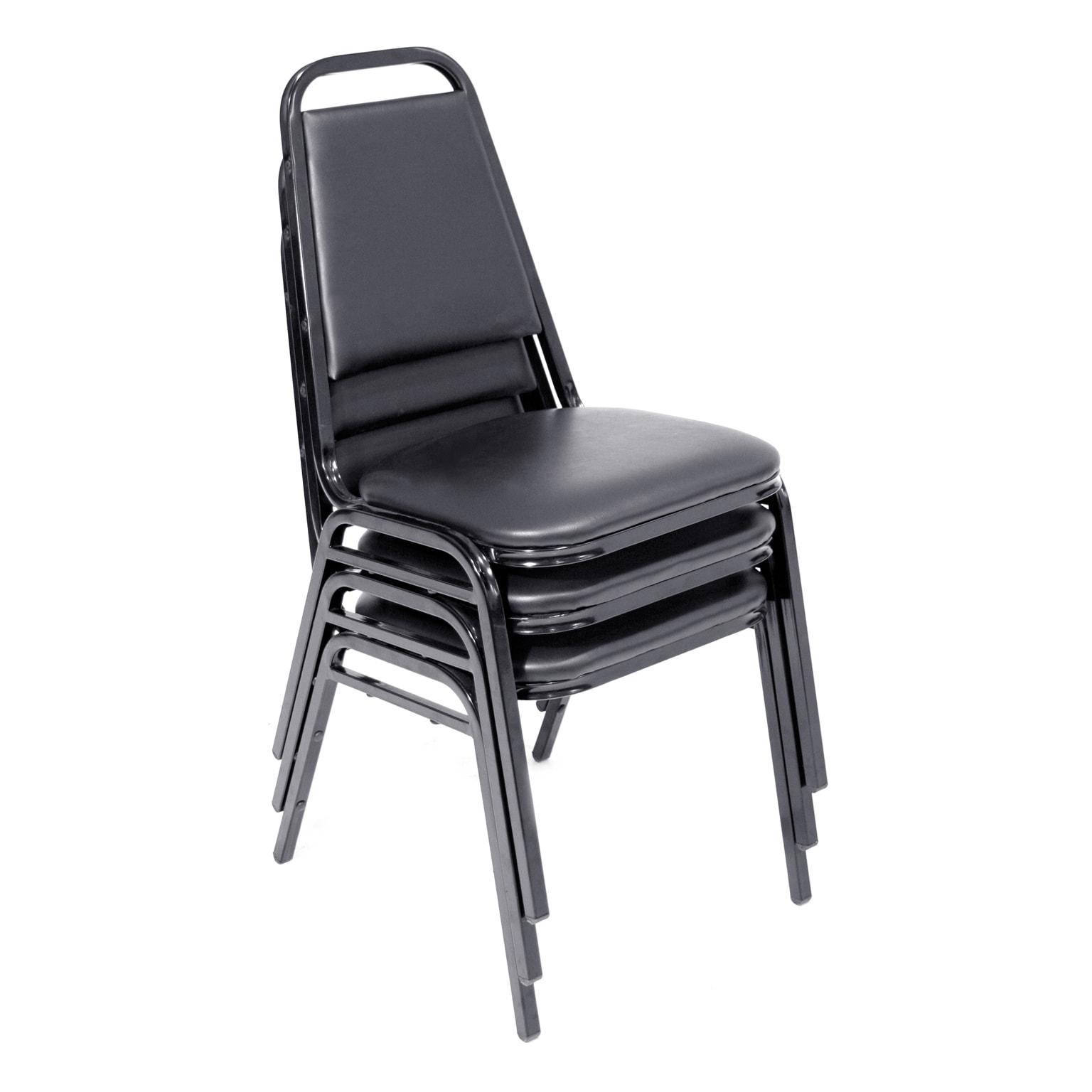Restaurant Stack Chair (40 pack)- Black Black 843532051689