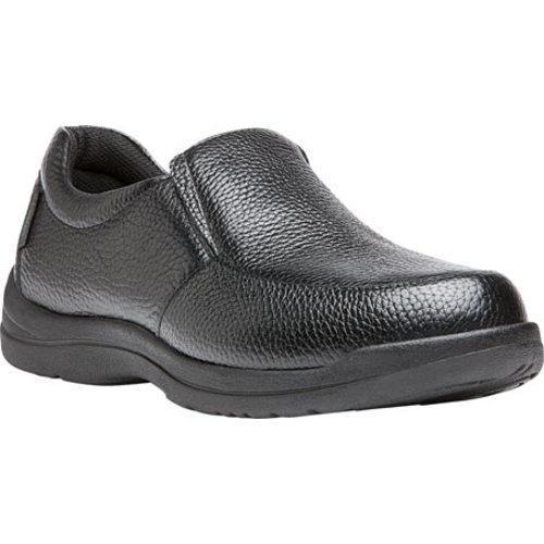 Men's Propet Cruz II Slip On Black Full Grain Leather