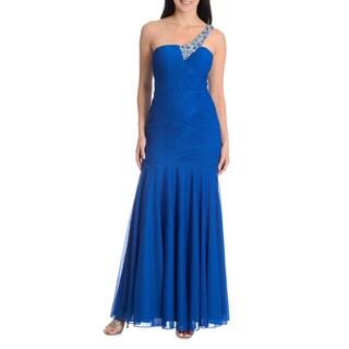 Joanna Chen New York Women's Embellished One Shoulder Mermaid Dress