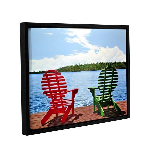 ArtWall Ken Kirsh 'Dockside' Gallery-wrapped Floater-framed Canvas
