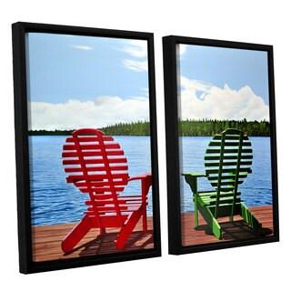 ArtWall Ken Kirsh 'Dockside' 2 Piece Floater Framed Canvas Set
