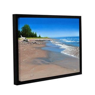ArtWall Ken Kirsh 'Driftwood Beach' Gallery-wrapped Floater-framed Canvas