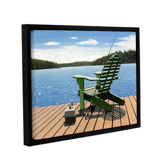 ArtWall Ken Kirsh 'Fishing Chair' Gallery-wrapped Floater-framed Canvas