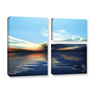 ArtWall Ken Kirsh 'Quiet Reflections' 3 Piece Gallery-wrapped Canvas Flag Set