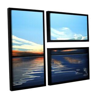 ArtWall Ken Kirsh 'Quiet Reflections' 3 Piece Floater Framed Canvas Flag Set