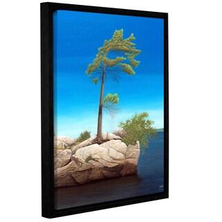 ArtWall Ken Kirsh 'Tree Rock' Gallery-wrapped Floater-framed Canvas