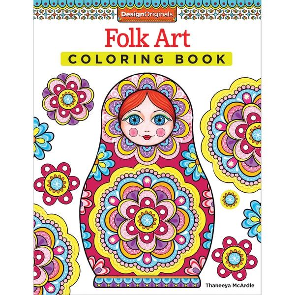 Design Originals Folk Art Coloring Book