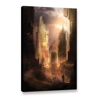 ArtWall Philip Straub 'The Arrival' Gallery-wrapped Floater-framed Canvas