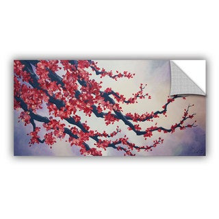 ArtAppealz Shiela Gosselin 'Red Cherry Blossom' Removable Wall Art