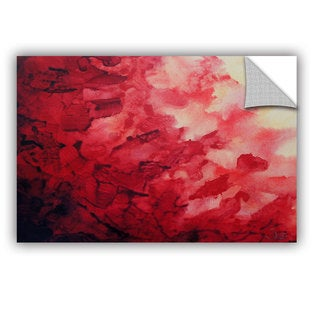 ArtAppealz Shiela Gosselin 'Red Watery Abstract' Removable Wall Art