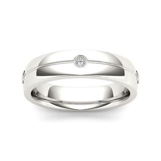 De Couer 14k White Gold 1/8ct TDW Diamond Men's Wedding Band (H-I, I2)