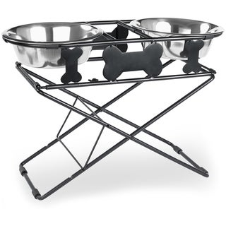 Multi Level Adjustable Diner 3 Tiers Black Wrought Iron