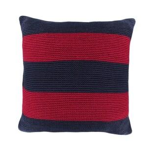 Nautica Mainsail Cabana Stripe Knit Decorative Pillow