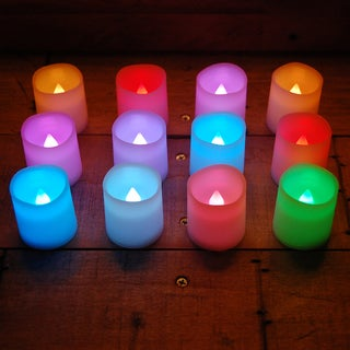 Battery Operated Color Changing Votive Candles (12 count)