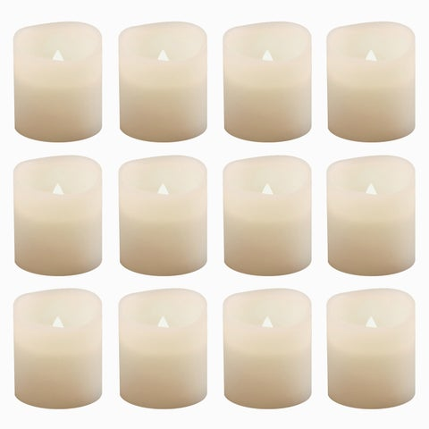 Battery Operated Warm White Votive Candles (Set of 12)