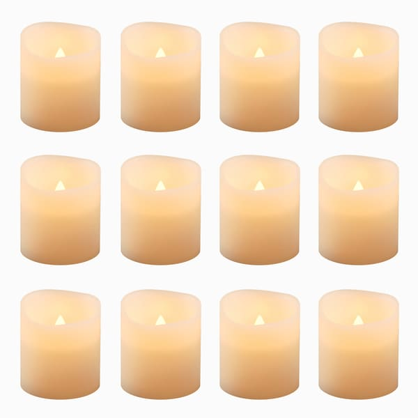 Battery Operated Led Amber Votive Candles (Set Of 12) by Generic