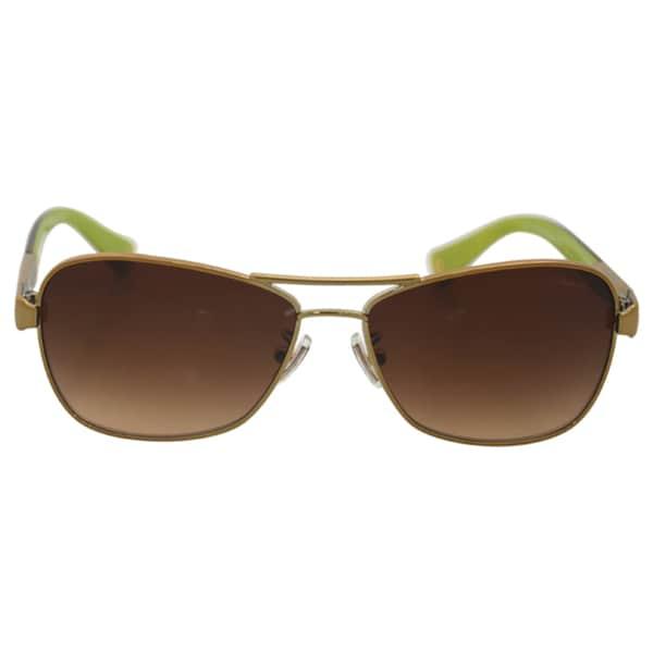 d9bf418a0aad Coach Women's HC7012 L038 Caroline 910013 Metal Pilot Sunglasses - Gold