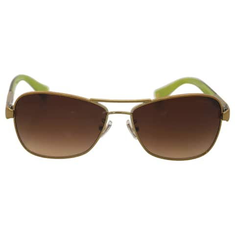 Coach Women's HC7012 L038 Caroline 910013 Metal Pilot Sunglasses - Gold