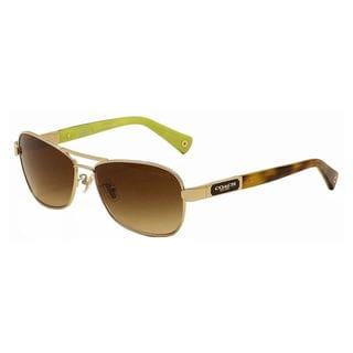 Coach Women's HC7012 L038 Caroline 910013 Metal Pilot Sunglasses