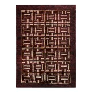 Herat Oriental Afghan Hand-knotted Tribal Vegetable Dye Gabbeh Wool Rug (4'2 x 5'10)