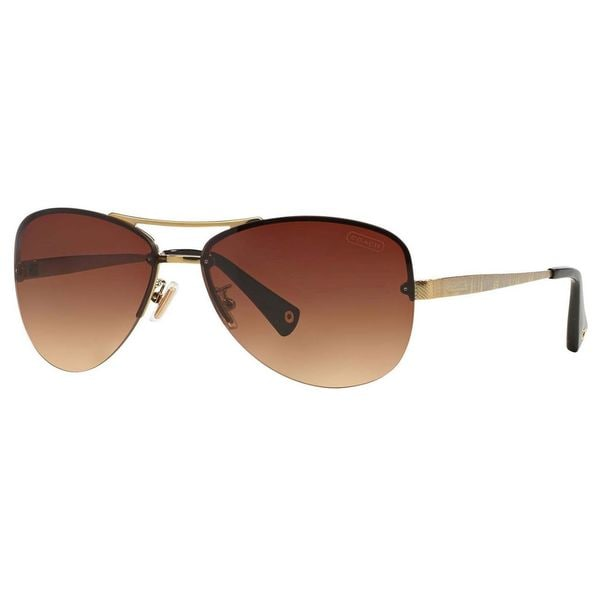 a3b08725f582 Coach Women's HC7026 L056 Jasmine 909913 Metal Pilot Sunglasses - Gold
