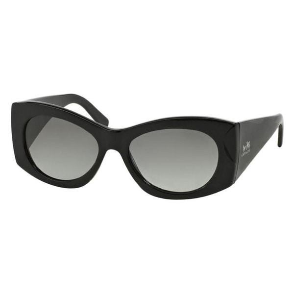 20f878d5d38 Coach Women  x27 s HC8127 L106 Charley 500211 Plastic Irregular Sunglasses  - Black