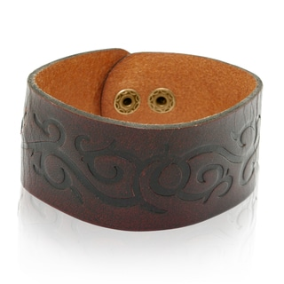 Gioelli Brown Leather Swirl Bracelet