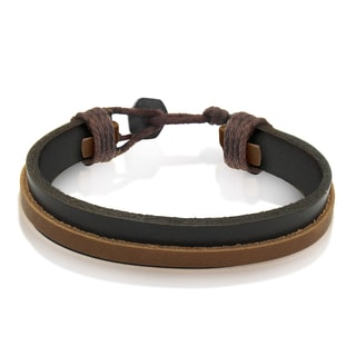Gioelli Brown Leather Classic 8-inch Bracelet