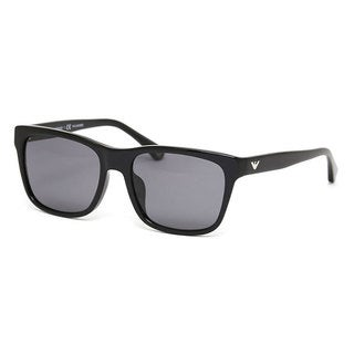 Emporio Armani Men's EA4041F Plastic Square Polarized Sunglasses