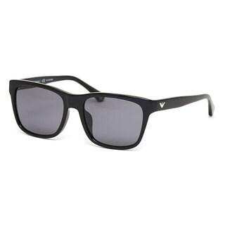 Emporio Armani Men's EA4041F Plastic Square Polarized Sunglasses