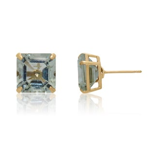 Gioelli 14k Yellow Gold 6 1/10ct Green Amethyst Earrings